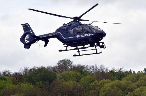 Hubschrauber sucht nach Autodieb