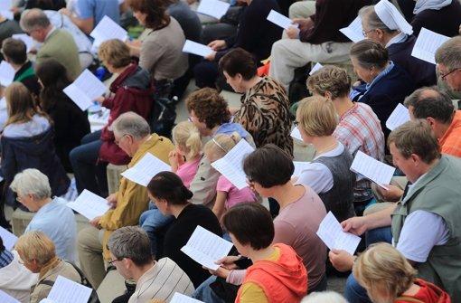 Über 100000 Christen werden im Juni 2015 nach Stuttgart kommen Foto: dpa