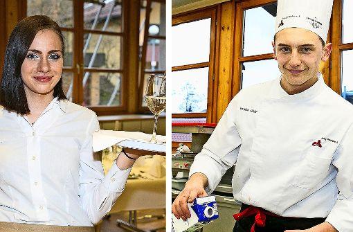 Fabian Wolf und Nelly Grüninger sichern sich die Prisecco-Pokale