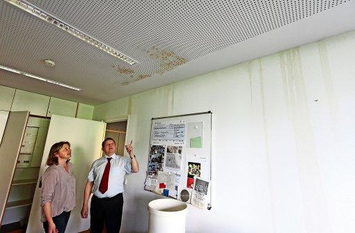 Rathaus-Baustelle bleibt  bis Ende Oktober bestehen