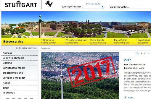 Beschwerden über Stuttgarts virtuelle Visitenkarte