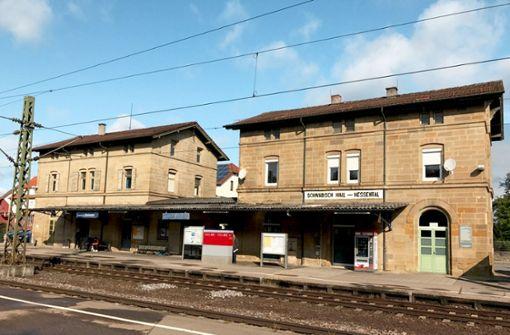 Der Bahnhof Schwäbisch Hall-Hessental steht zum Verkauf. Foto: Deutsche Bahn