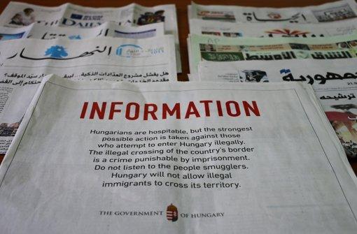 Ungarn schaltet Anzeigen in Jordanien und Libanon