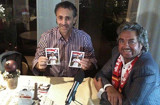 Zum Dreh der 16. Folge von Bruno sieht rot hat sich Bruno Stickroth mit Maurizio Gaudino getroffen.p Foto: hele