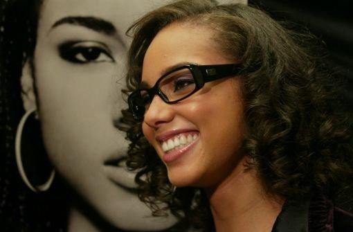 Ab und zu trägt die Sängerin Alicia Keys ein auffälliges Nasenfahrrad. Foto: AP