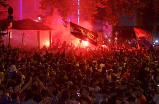 ... haben den Einzug ihrer Mannschaft ins WM-Finale gefeiert. Foto: 7aktuell.de | Amr Moustafa