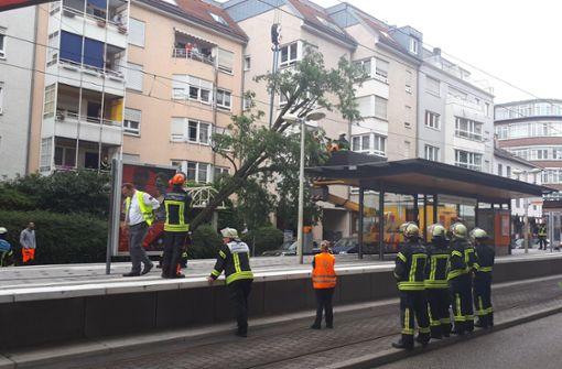Die Haltestelle Rosenberg-/Seidenstraße im Stuttgarter Westen. Foto: 7aktuell.de/Jens Pusch