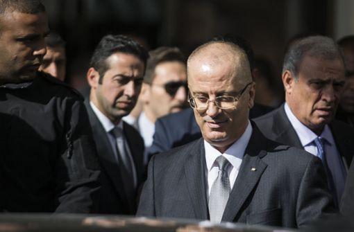 Explosion trifft Konvoi mit palästinensischem Ministerpräsidenten