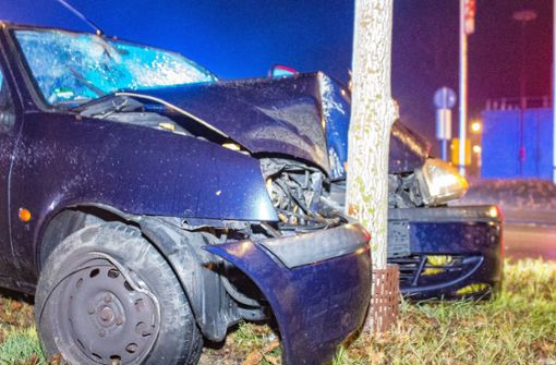 Auto prallt gegen Baum – Zwei Verletzte