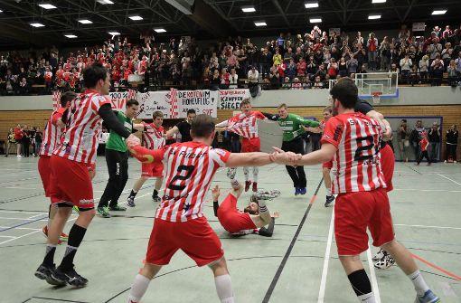 Geschafft! Die Handballer des SV Fellbach sind in die Württemberg-Liga aufgestiegen