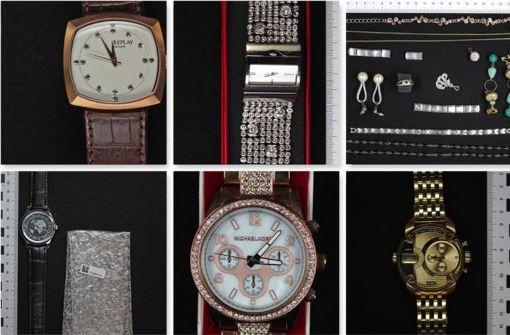 Fotos gestohlener Waren im Netz