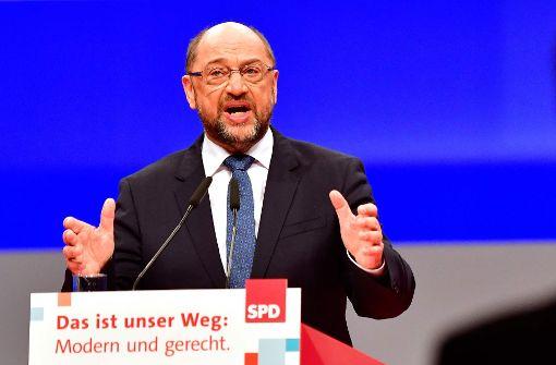 Martin Schulz beim Bundesparteitag in Berlin. Foto: AFP