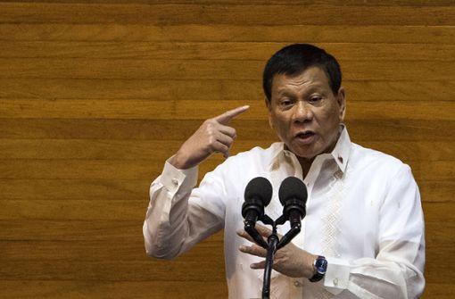 Duterte will das Kriegsrecht im Süden des Landes verlängern. Foto: AFP