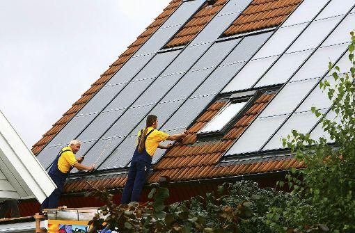 Dächer sollen zu Stromfabriken werden