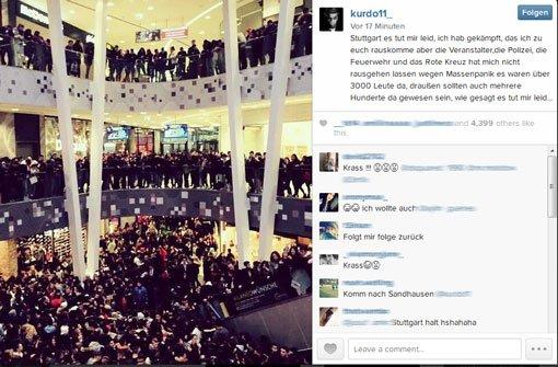 Rapper Kurdo entschuldigt sich auf Instagram bei seinen Fans - man habe ihn am Montag im Stuttgarter Milaneo nicht rausgelassen. Foto: Instagram Screenshot