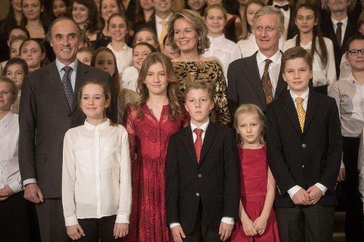 Belgische Königsfamilie besucht Weihnachtskonzert