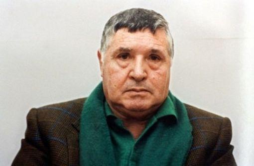 """Salvatore """"Totò"""" Riina hat unzählige Menschenleben auf dem Gewissen, sein Spitzname war """"die Bestie"""". Nun könnte der Ex-Chef der Cosa Nostra freikommen. Auch wenn das noch gar nicht sicher ist: Der Aufschrei in Italien ist groß. Foto: dpa"""