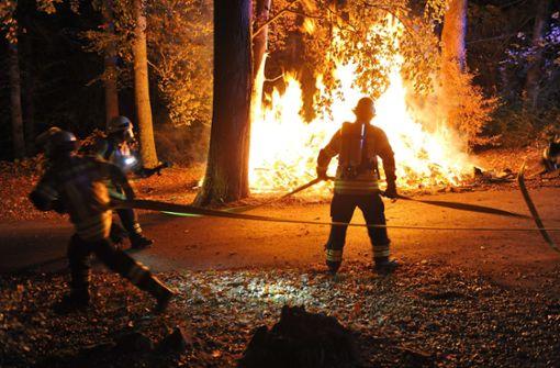 Eine unheimliche Serie: Feuerwehr-Einsatz in Strümpfelbach am 4. November. Foto: Feuerwehr (Alexander Ernst)
