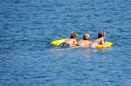 Ungetrübter Badespass: die Seen im Landkreis sind blitzsauber, sagt das Ministerium. Foto: dpa