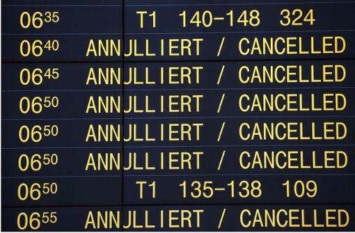 Rund 40 Flüge in Stuttgart gestrichen