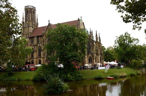 Am Fuße der Johanneskirche in Stuttgart-West wurde am Wochenende das Feuerseefest gefeiert. Foto: FRIEBE|PR/ Sven Friebe