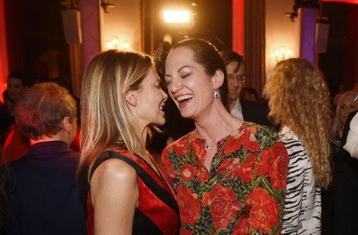 """Natalia Wörner mit Ursula Karven auf der """"Bunte und BMW Festival Night"""". Foto: dpa"""