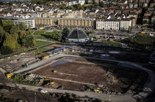 Unter der Fläche im Schlossgarten wird ein Teil des Tiefbahnhofs liegen Foto: Piechowski