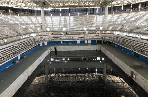Nach dem Spektakel verrotten die Sportstätten