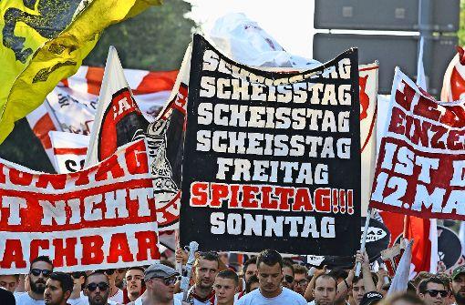 Eindrücke von der Karawane Cannstatt der Fans des VfB Stuttgart vor der vergangenen Saison. Foto: Pressefoto Baumann