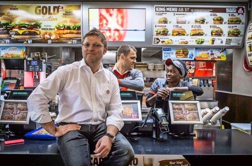 Burger King-Franchisenehmer Matthias Dobler  ist vom Standort Schloßstraße überzeugt. Als Vorbild dient die Filiale am Marienplatz, da laufe auch alles rund Foto: Lichtgut/Max Kovalenko