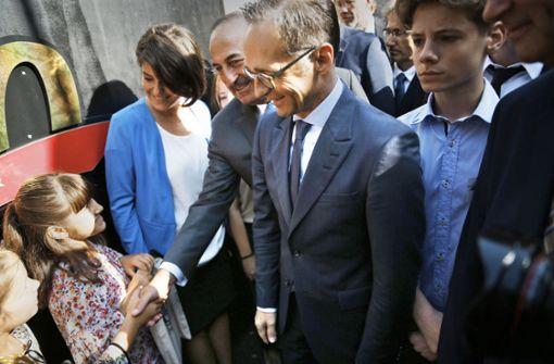 Es war der erste Besuch von Heiko Maas als Außenminister in der Türkei. Foto: AP
