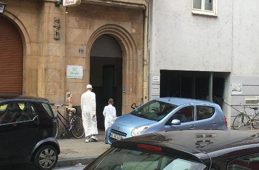 Der heutige Eingang zur Omar-Al-Faruq-Moschee in Mannheim Foto: StN