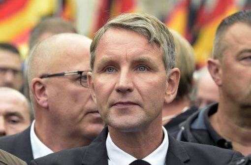Björn Höcke (AfD) nahm diese Woche bei einem Schweigemarsch in Chemnitz teil. Foto: AP