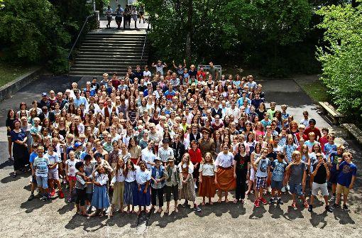 """Etwa 300 Schüler sind an dem Musical """"Anatevka"""" beteiligt. Das Fanny-Leicht-Gymnasium lässt sich die Produktion 50000 Euro kosten. Foto: Sabrina Höbel"""