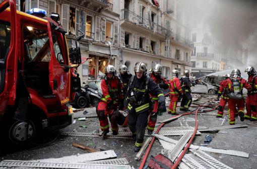 In Paris gab es eine heftige Explosion. Foto: AFP