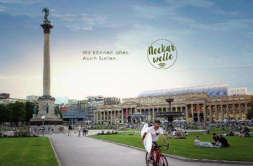 Surfen in Stuttgart? Noch ist es eine Vision... Foto: Team Neckarwelle