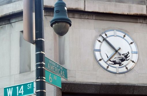 Street-Art-Künstler kritisiert mit Ratte Kapitalismus