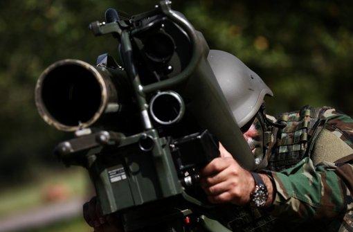 Peschmerga üben für den Krieg im Irak