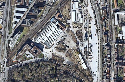 Das Gebiet um die Wagenhallen im Jahre 2015 Foto: Stadtmessungsamt Stuttgart