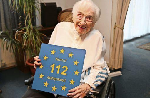 Edelgard Huber von Gersdorff fühlt sich als Europäerin – und wirbt für die 112. Foto: Europe Direct