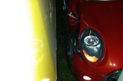 Die 48-jährige Minifahrerin hat laut Polizei das Rotlicht einer Ampel übersehen ... Foto: 7aktuell.de/Jens Pusch
