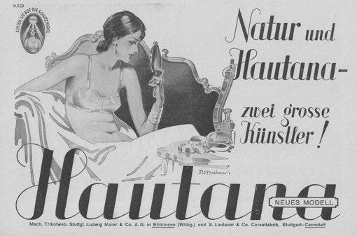 Siegmund Lindauer war ein guter Werber. Der Satz Natur und Hautana - zwei große Künstler wie hier auf der Werbung von 1930 stammen aus seiner Zeit als Firmenchef. Mehr Bilder finden Sie in unserer bBildergalerie/b. Foto: