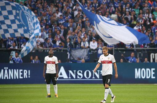 Der VfB hat auf Schalke gut mitgehalten – wenn die Gegentore nicht wären. Foto: Pressefoto Baumann
