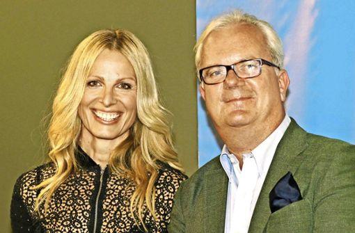Moderatorin Emma von Bergenspitz und Wittwer-Geschäftsführer Rainer Bartle.   Foto: Klaus Schnaidt