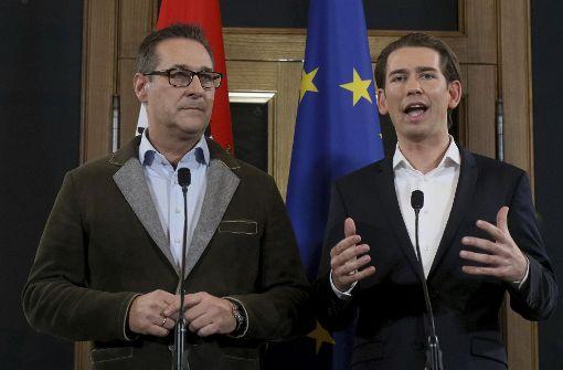 ÖVP und FPÖ einigen sich auf Regierungsbündnis in Österreich